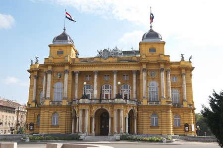 croatian: Croatia, Zagreb. The building of the Croatian National Theater