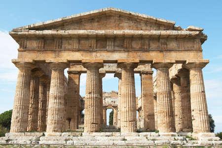neptun: Italien, Paestum. Der Tempel der Hera-II (fr�her bekannt als Neptun oder Apollo bekannt) Lizenzfreie Bilder