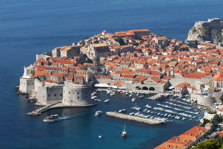 Croatia, Dubrovnik. The top view of the old town Stock Photo - 12457651