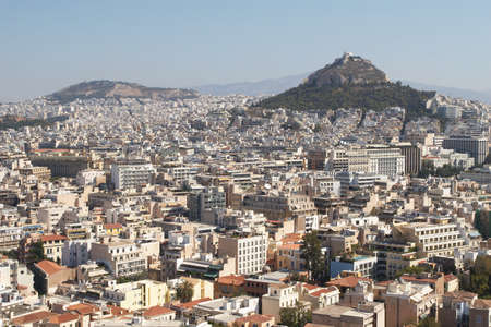 Greece, Athens. View of the city and Lycabettus Hill photo