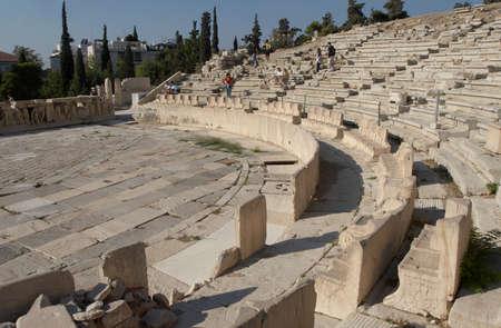 Greece, Athens. Acropolis. Theatre of Dionysus photo