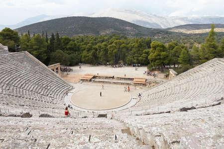 teatro antico: Grecia, Epidauro. Teatro Antico Archivio Fotografico