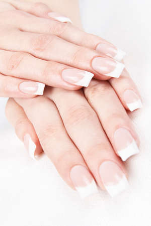 A professional French manicure