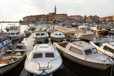 Croatia, Rovinj. Boats in the port of the city Stock Photo - 12758562