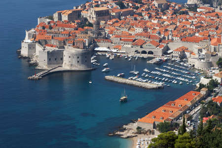 croatia dubrovnik: Croatia, Dubrovnik. The top view of the old town Stock Photo