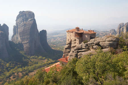 thessaly: Greece, the monastery complex of Meteora. Holy Monastery of Rousanou