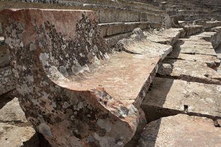teatro antico: Grecia, Epidauro. Sedili in pietra del Teatro Antico Archivio Fotografico
