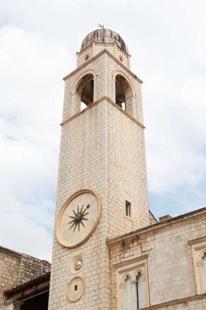croatia dubrovnik: Croatia, Dubrovnik. The city bell tower with a clock