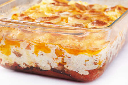 Greek cuisine. Moussaka - casserole of minced meat and vegetables Stock Photo - 12923019
