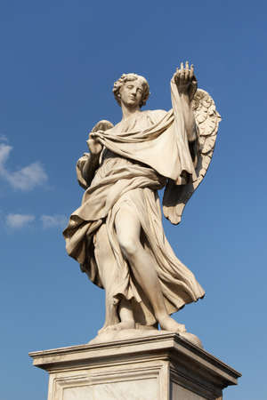 sudarium: Italy, Rome. Statue of Angel with the Sudarium on the Ponte Sant Angelo