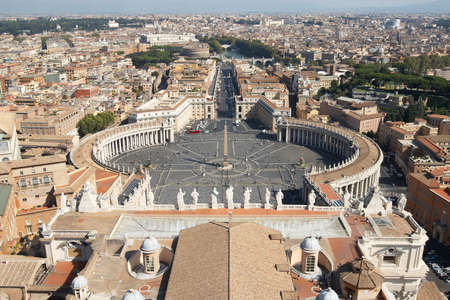 st  peter s square: Italy, Rome, Vatican  St  Peter s Square Stock Photo
