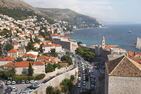 croatia dubrovnik: Croatia, Dubrovnik. Croatia, Dubrovnik. View from the walls to the street Iza Grada