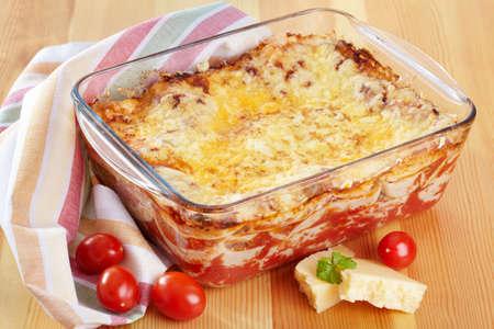 Italian cuisine. Meat lasagna