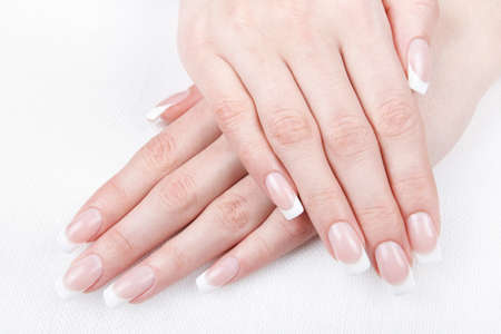 acrylic nails: A professional French manicure