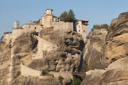 Greece, the monastery complex of Meteora   The Holy Monastery of Varlaam photo