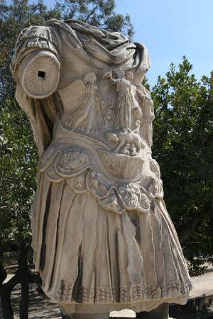 hadrian: Grecia, Atenas. Antiguo �gora. Estatua de emperador romano Adriano
