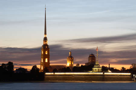 Russia, St  Petersburg  Peter and Paul Fortress in a white night photo