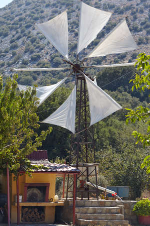 traditional windmill: Greece, Crete. Traditional windmill on the plateau of Lasithi