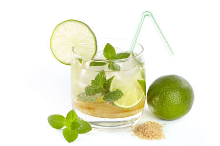 Mojito cocktail on a white background photo