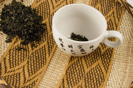 Healthly chinese gunpowder green tea, Stock Photo - 2840269