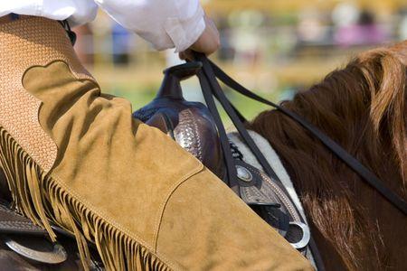 western riding equipment detail