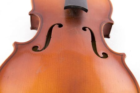 accompaniment: Violin closeup on a white background