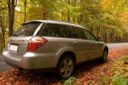 voiture parking: Parking � l'automne des for�ts