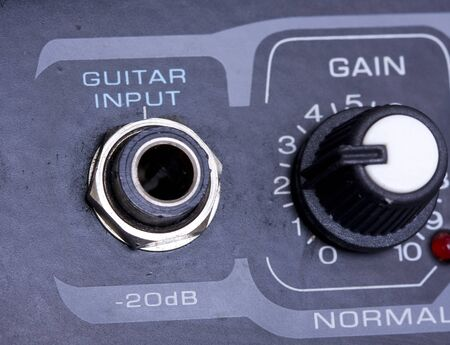 Knobs on a guitar amplifier Stock Photo - 4177047