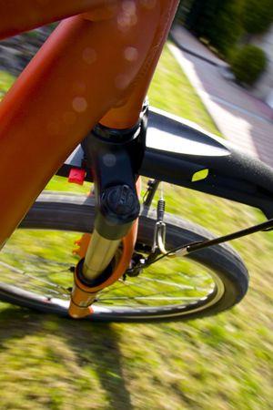 Mountain biking ride - motion shot