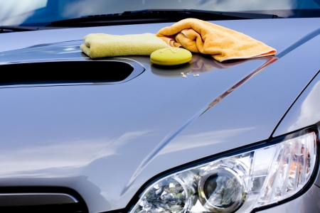 carwash: Cleaning the Car -  waxing process