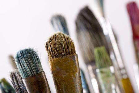 Painting brushes isolated on white Stock Photo - 4731890
