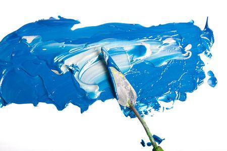 Acrylic paint isolated on white