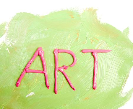 Word ART written with acrylics paint