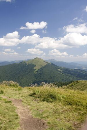 Top of Bieszczady Mountains National Park in Poland