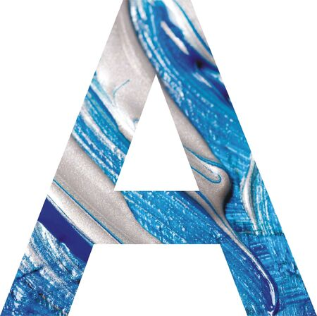 Letter A on artistic painted background Stock Photo - 6122736