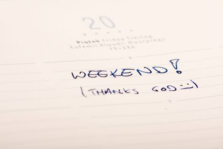 Marked and written  in a calendar. Stock Photo - 6389843