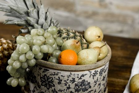 Traditional basket full of fruits - still life shoot Stock Photo - 6495226