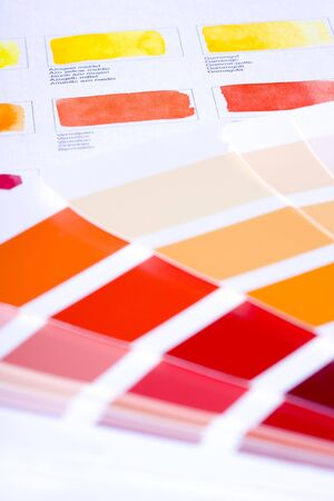 color chart: color chart Stock Photo