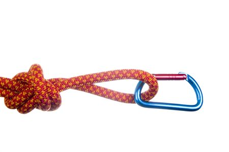 Climbing gear isolated on white Stock Photo - 6669471