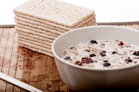 Healthy and dieting muesli breakfast Stock Photo - 7101041