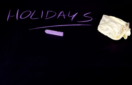 Holidays written on black chalkboard Stock Photo - 7271841