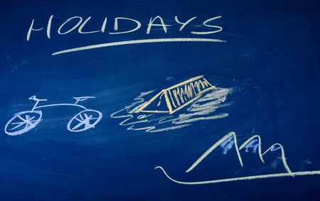 Holidays described on green chalkboard Stock Photo - 7388013