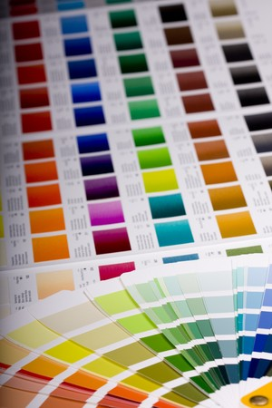 Color chart of acrylic paint