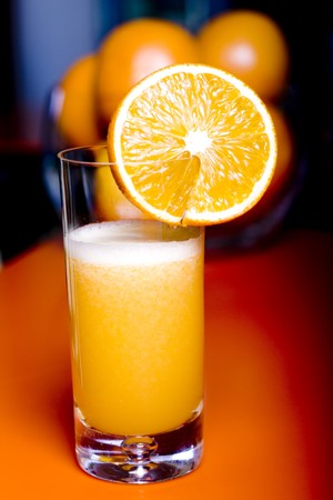 fresh orange juice in a glass Stock Photo - 8178820