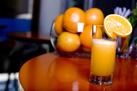 fresh orange juice in a glass Stock Photo - 8975721