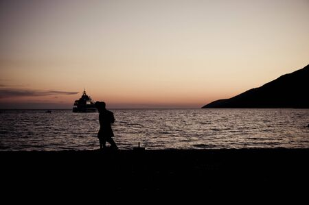 Alone yacht on croatian sea