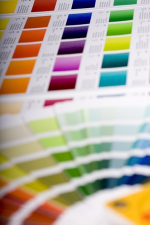 color chart: Color chart of acrylic paint