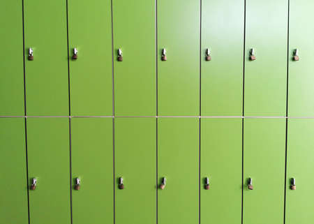green school lockers for individual use 免版税图像