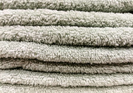 Light gray terry towels bor the background