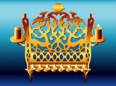 windows 8: 18 century Poland style Hanukkah Menorah